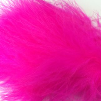 plumes de marabou rose fluo montage streamer