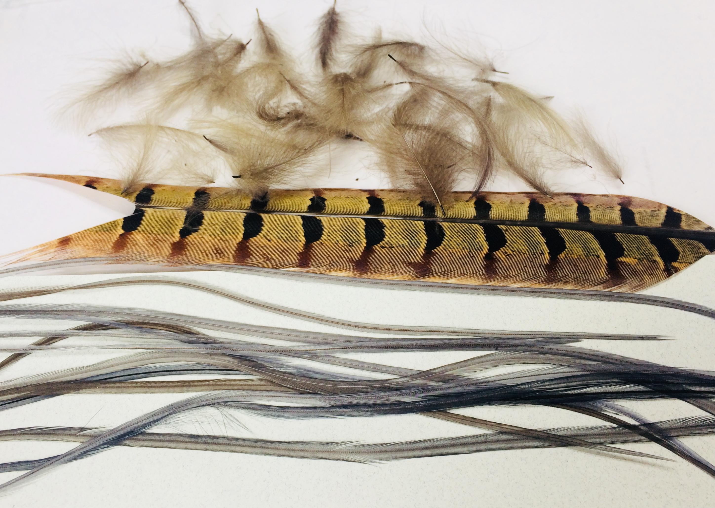 plumes pour montage de mouche