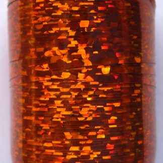 tinsel holographic orange